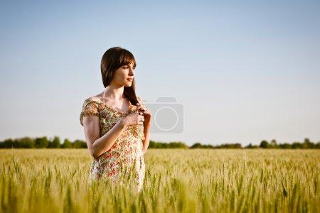 young woman relaxing