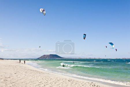 Kite surfing in Fuerteventura