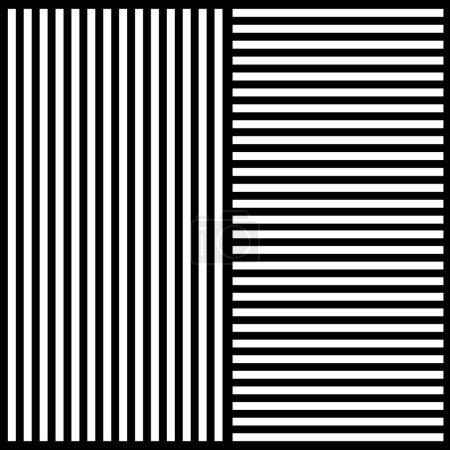Illustration pour Fond élégant de rayures noires et blanches dans différentes directions - image libre de droit