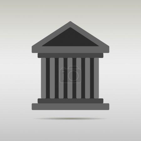 edificio icono vector del Tribunal