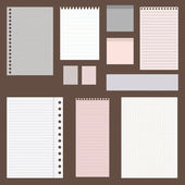 dig vintage set of paper designs paper sheets lined paper and note paper