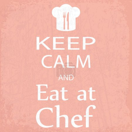 banner keep calm and eat at chef
