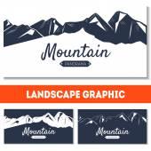 Dovolená pozadí s horami