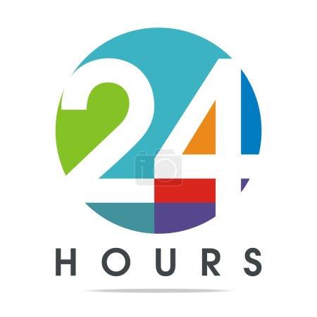 24-hour Business Logo Client Vector Design