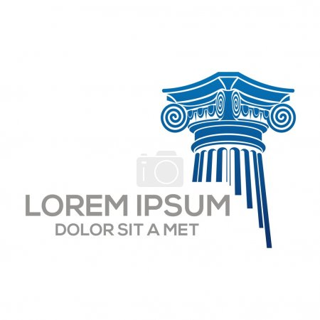 Logo law building and justice icon vector