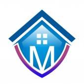 Real estate mortgage home construction company vector
