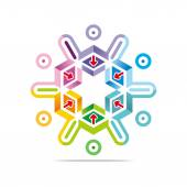 Logo Abstract Colorful Star Arrow Symbol Pointer  Vector