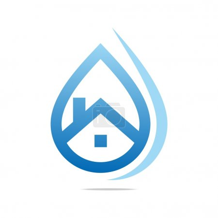 Illustration for Drop water, pure, logo, shapes, symbol icon, sign, design, river, sea, waterfall, aqua, lake, pond, beach, spring, healthy, clean - Royalty Free Image