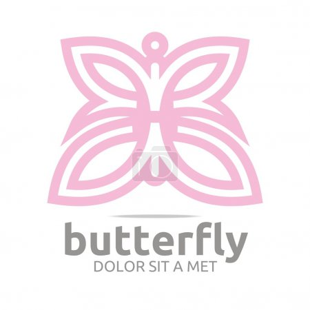 Illustration for Logo, butterfly, leaf, pink, insect, spring, symbol, abstract, beautiful, serinity, animals, - Royalty Free Image