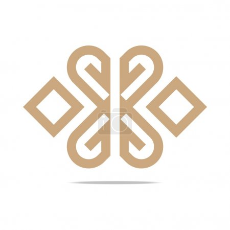 Logo Abstract Letter G Love Combination Design Element Symbol Icon