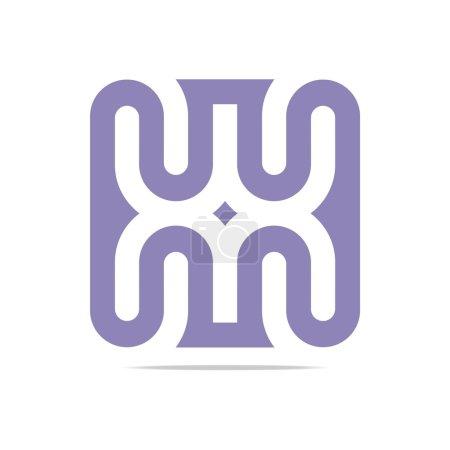 Logo Orange C H Arch Element Design Vector Abstract