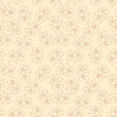 Vector seamless wallpaper with almond flowers