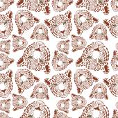 Vector pattern seamless Wallpaper with a picture of the muzzle of the leopard