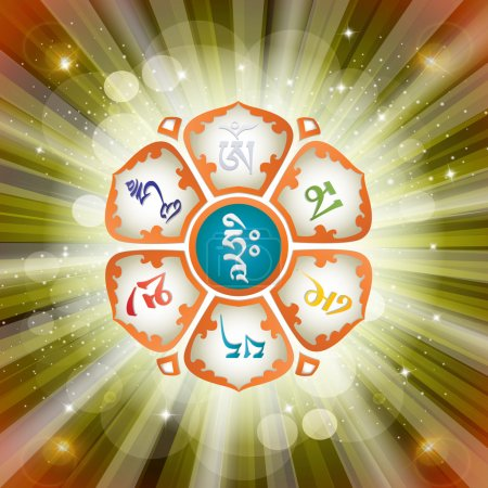 Mantra in the Lotus.