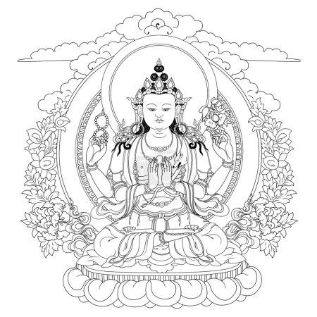 Bodhisattva Avalokiteshvara. Buddha.