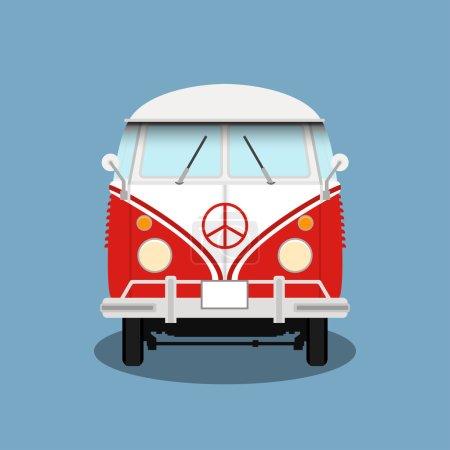 Vector classic retro bus.
