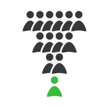 Illustration pour Chiffre vectoriel du leader. Travail d'équipe . - image libre de droit