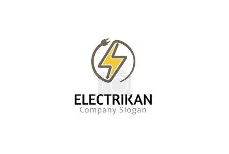 Illustration for Electikan Symbol Design Illustration - Royalty Free Image