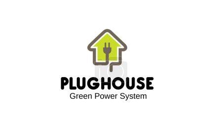 Illustration pour Illustration de conception de Plug House - image libre de droit