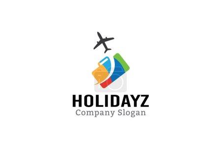 Illustration pour Voyage Holidayz Illustration Design - image libre de droit