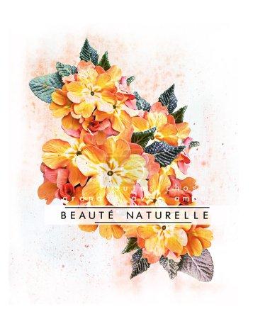 Photo pour T-shirt floral graphique avec slogan pour la mode et d'autres utilisations . - image libre de droit