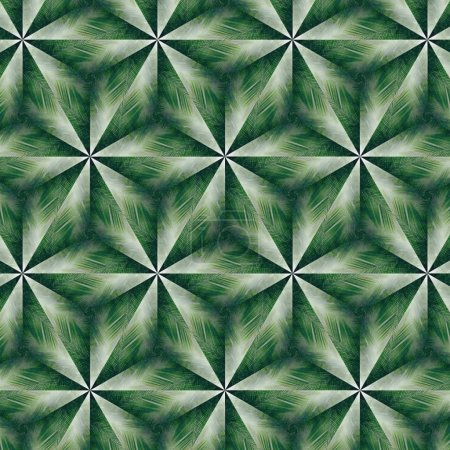 Abstract, seamless, green, floral pattern
