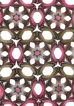 Photo pour Motif coloré, abstrait, sans couture avec motifs floraux - image libre de droit