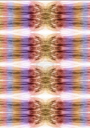 Pattern with colorful blurred  feather elements