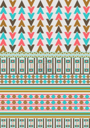 Abstract, ethnic, seamless pattern