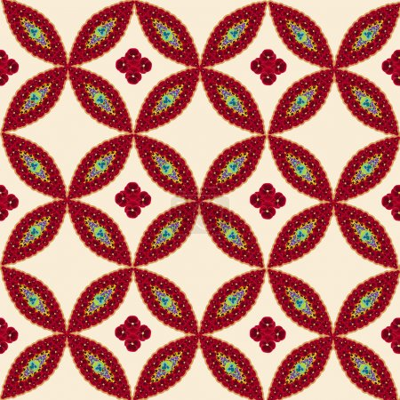 Seamless pattern with flower motifs