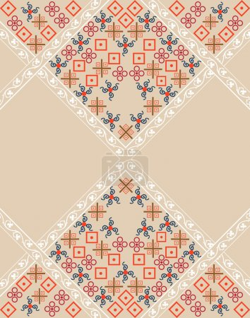 Illustration for Tribal,ethnic pattern,background with geometric elements in vector. - Royalty Free Image