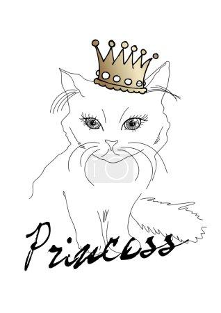 Cute cat in crown