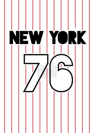 Stripy baseball graphic