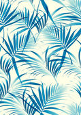 Tropical leaves pattern in vector background