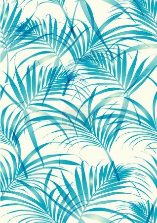 Illustration pour Modèle de feuilles tropicales en arrière-plan vectoriel - image libre de droit