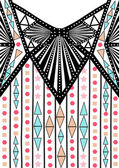 Colorful tribal seamless border pattern with simple geometric elements