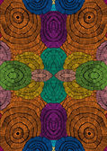 Abstract seamless pattern with colorful striped circles