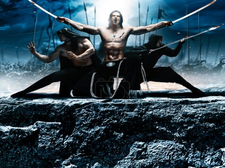 Photo fantasy battle ninja, super heroes, assassin...