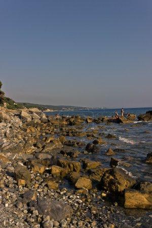 Cliffs on Tuscany's seaside