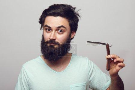 Hipster man with a beard