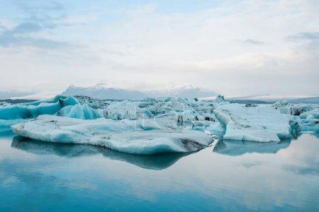 Glacier melting in Iceland.