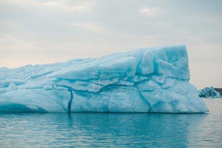 Floating glacier in Jokulsarlon lagoon.