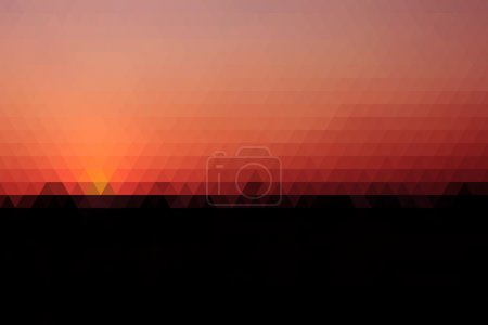 Abstract Silhouette Cornfield And Sunset In The Ev...