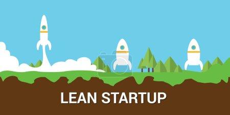 lean startup concept