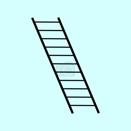 The ladder rungs