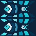 Blue fish mosaic vector background. Natural seamle...