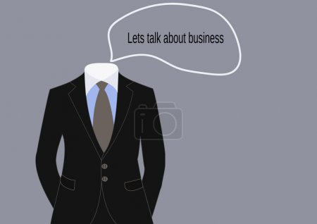 Illustration for Business suit of businessman, dress code vector - Royalty Free Image
