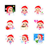 Christmas Girl Emoticons