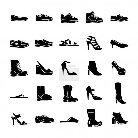 Shoes glyph vector icons...