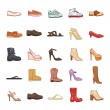 Shoes color vector icons...